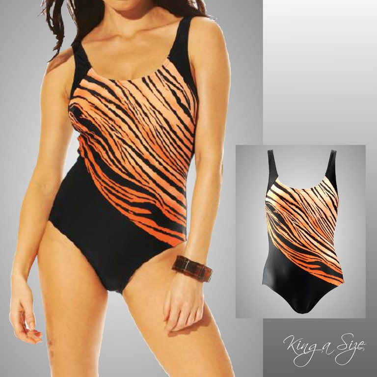 8948a7a62ca Swimsuit front bodice Gr.38 black orange   free shipping